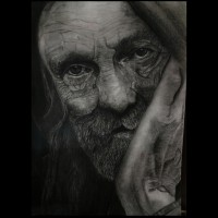 The Old Man Handmade painting