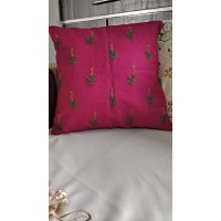 Flower Embroidered cushion cover
