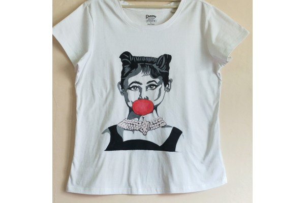 Aesthetic Girl Hand-Painted T-Shirt