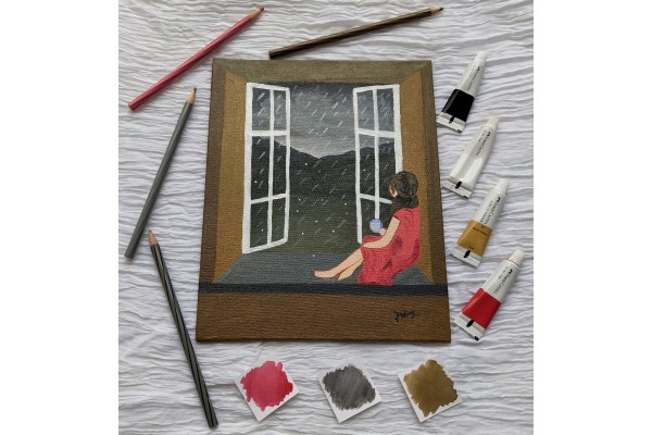 Monsoon Canvas Painting